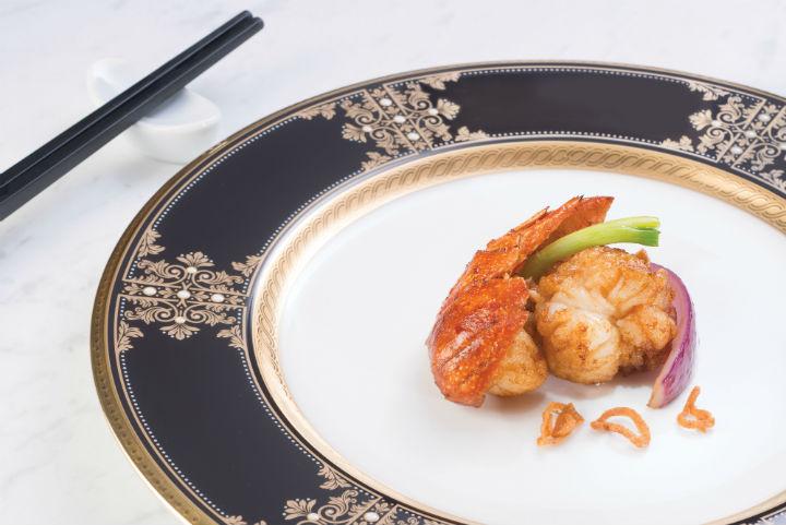 三蔥爆龍蝦
