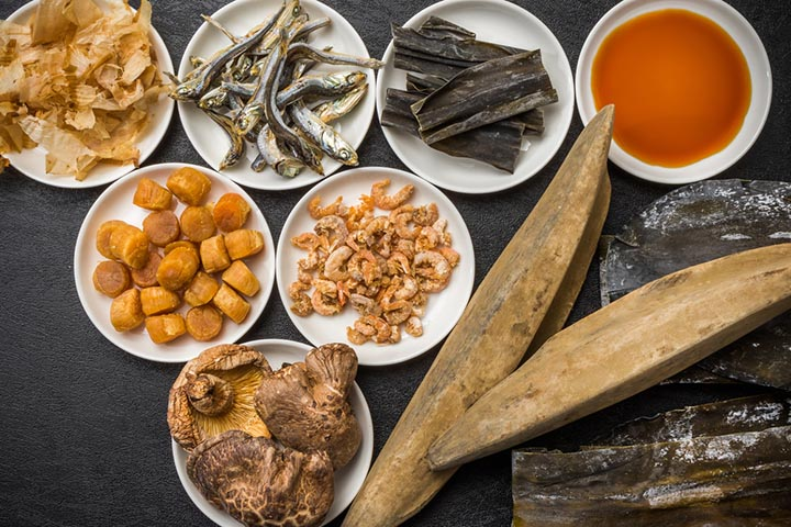 High concentrations of umami can be found in Seafood, which naturally contain both glutamate and inosinate, also known as disodium inosinate.