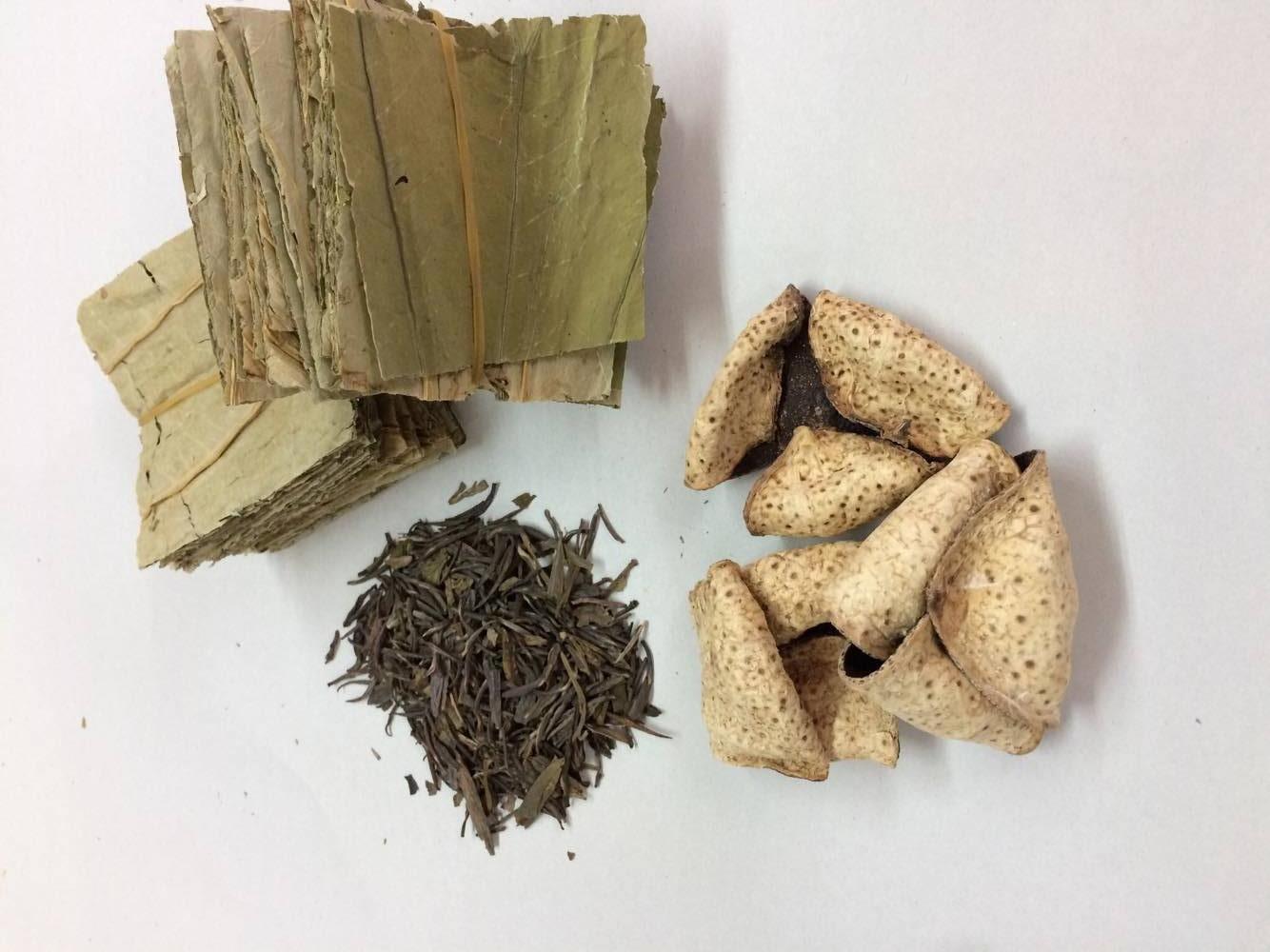 荷葉、陳皮、普洱茶。相傳慈禧太后也服用此茶飲來養生。