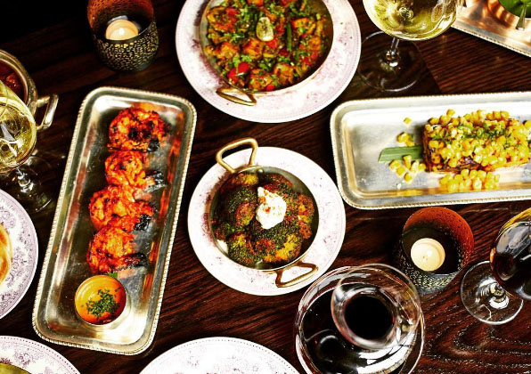 A selection of Gymkhana's dishes