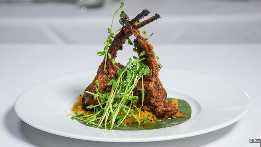 One of the dishes at Tulsi.