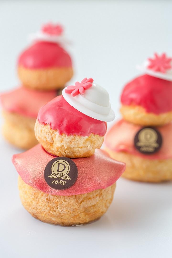 像女孩穿起粉紅裙子的泡芙,可愛。(圖:DALLOYAU)