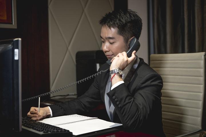 管家 24 小時都會為住客提供服務。