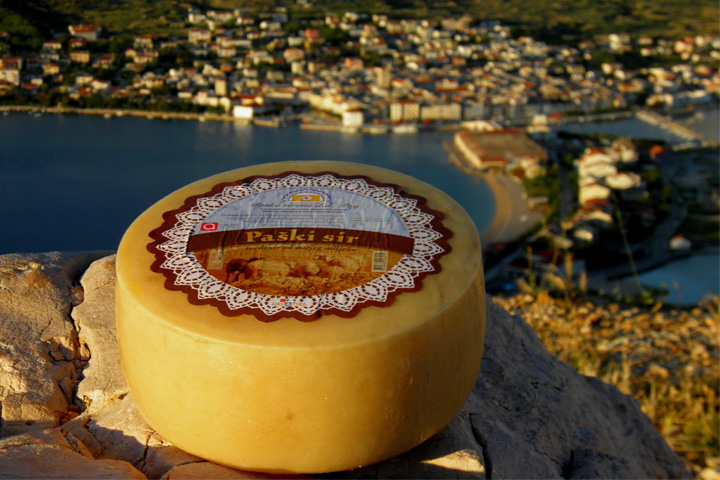 Pag cheese on a rocky outcrop facing the island. Photo credit: Paska Sirana.