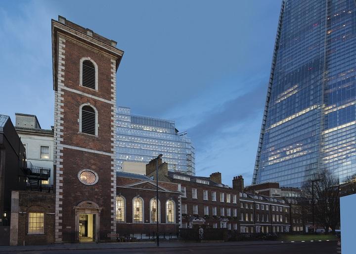 倫敦的都爹利會館,將位於甚具歷史、走安妮皇后 (Queen Anne) 建築風格的 St. Thomas Church 之中。
