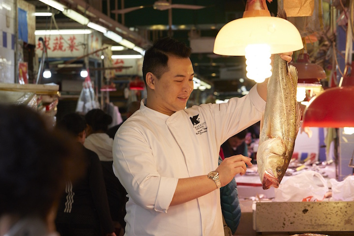 Chef Jayson Tang of Man Ho Chinese restaurant does not like to be restricted by procurement restrictions and enjoy sourcing fresh produce from wet markets. (Photo: JW Marriott Hotel Hong Kong.)