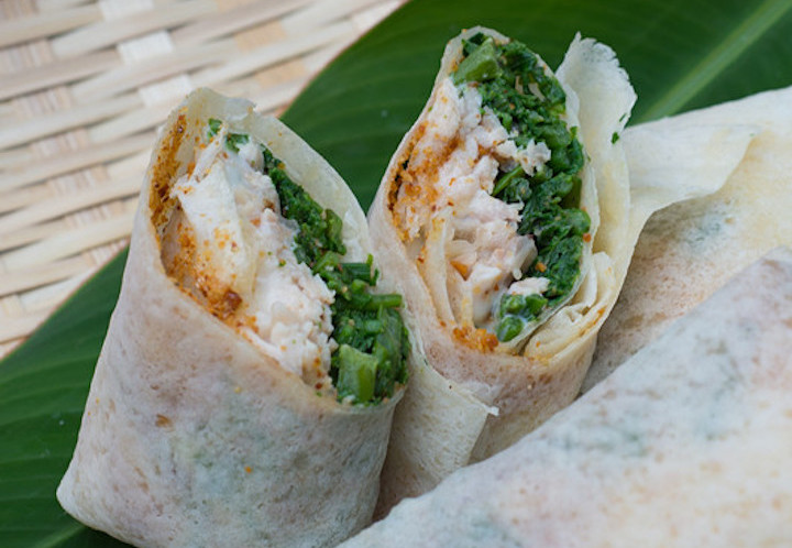 Popiah is usually eaten during Qingming festival in Taiwan