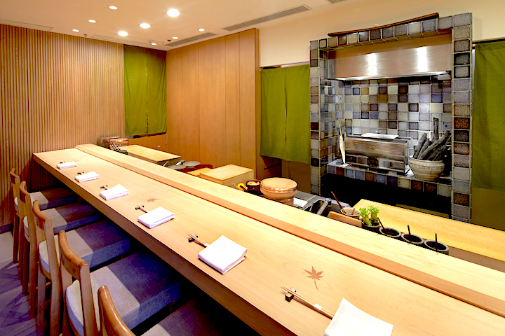 Interior of Sushi Shikon