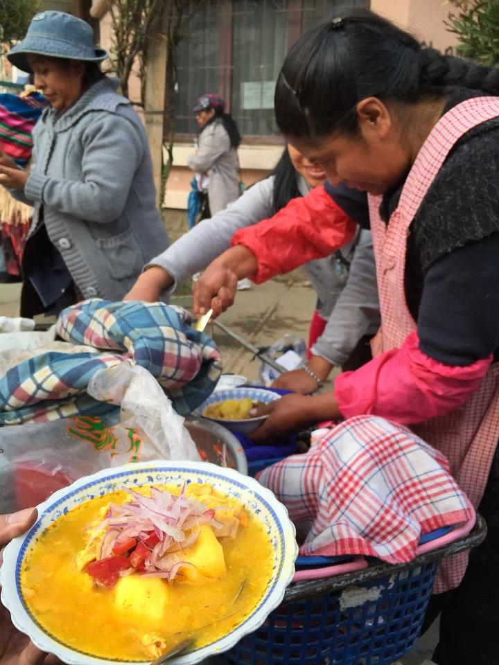 街頭小吃 Sajta de Pollo。(攝影:鄔智明)
