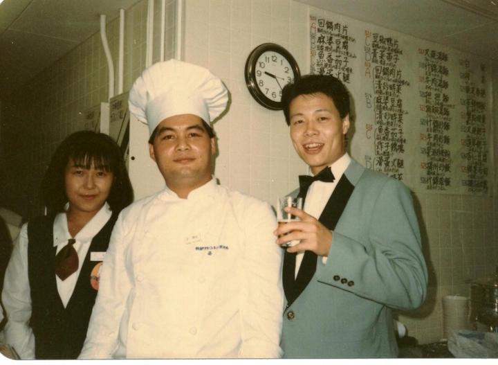 攝於 1986 年,梁師傅學師的首 10 年,紅褲子的年代,是他吸收知識,打穩基礎的階段。
