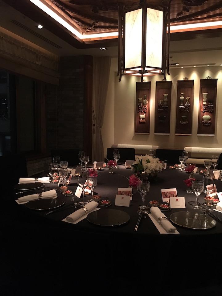 這次的如意宴,整個九月在東京半島酒店起鳳臺舉行。