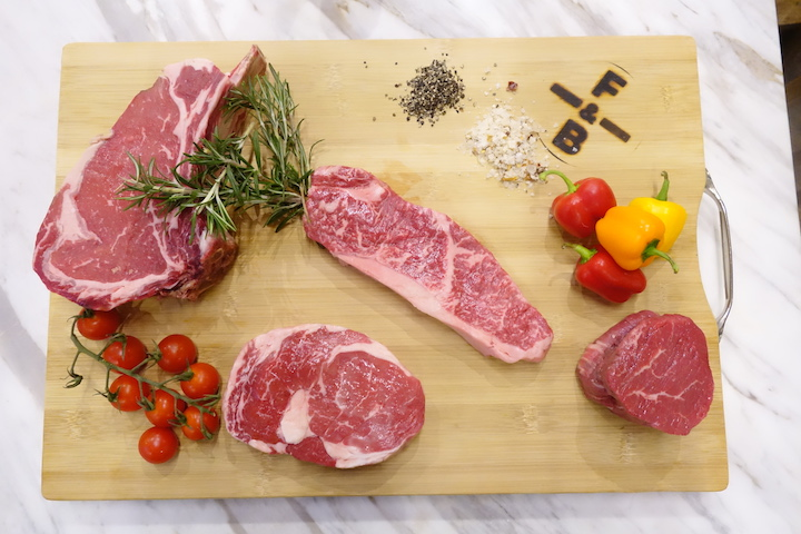 Tulay believes grain-fed beef has more flavour than its grass-fed counterpart.