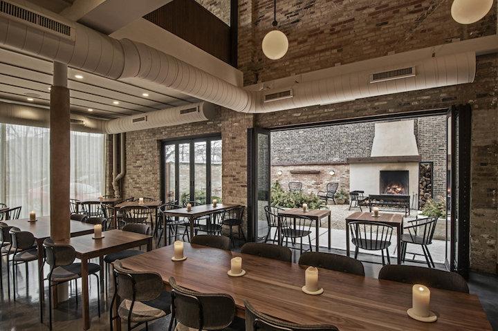 The interior at Elske Restaurant