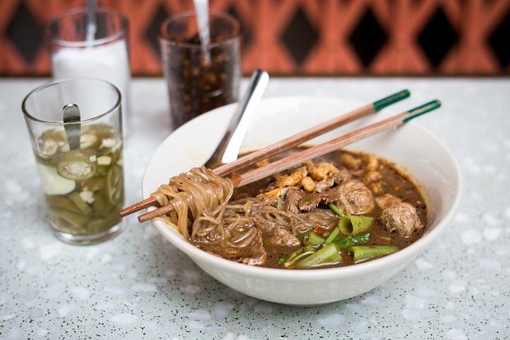 Wagyu beef boat noodles, Samsen's signature dish.