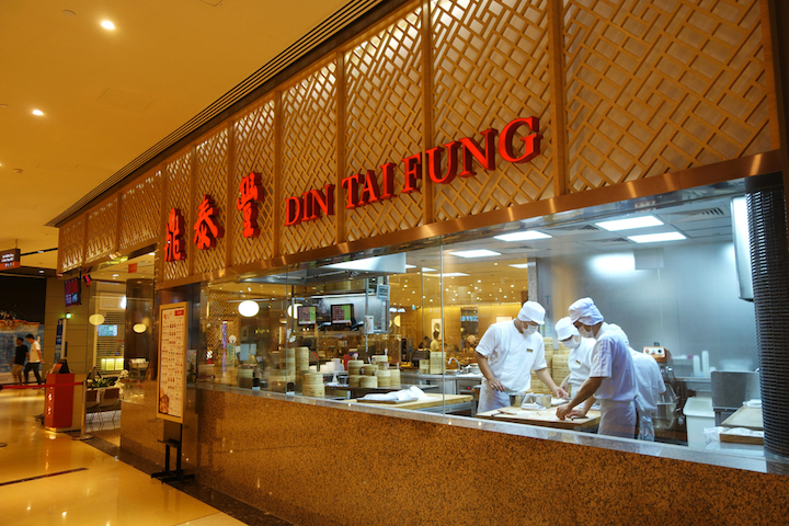 Din Tai Fung is one of chef Jacky Tauvry's top Bib Gourmand picks.