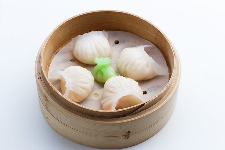 Shrimp dumplings from Shang Palace.