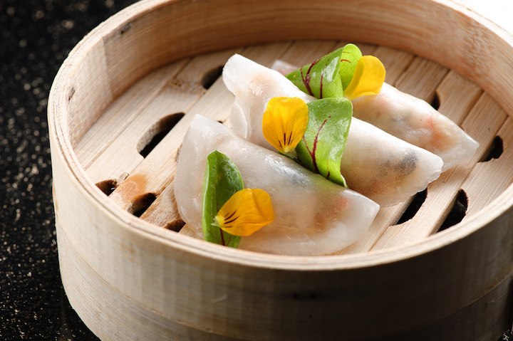 Steamed vegetarian dumplings at Summer Palace.