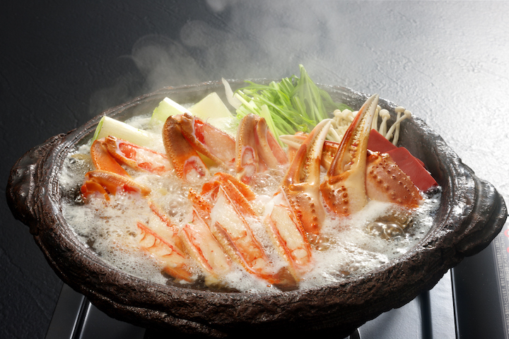 Hotpot with matsuba crab isn't only delicious, it warms your entire body.